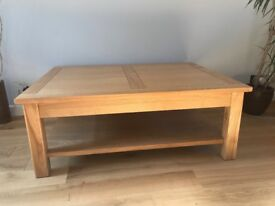 WHAT-NOT'S LARGE OAK COFFEE TABLE FOR SALE
