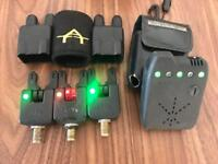 3 x atts alarms carp fishing receiver