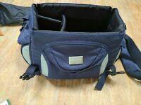 Genuine Blue + Grey Antler Camera / Camcorder Bag Carry Case