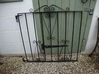 """Wrought Iron Gate With Hinges. 33"""" x 33"""" approx."""