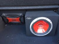 SONY XPLOD SUB AND AMP - Very good condition fully tested and working