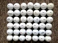 42 NIKE golf balls in excellent condition, pd long, NDX turbo, Mojo,
