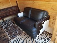 Leather Cowhide 2 Seater Sofa