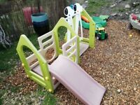 TODDLER PLASTIC OUTDOOR CLIMBING FRAME WITH SLIDE AND SWING