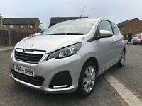 2014 PEUGEOT 108 ACTIVE IMMACULATE CONDITION WITH FULL MAIN DEALER SERVICE HISTORY & 12 MONTHS MOT
