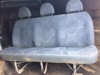 Row of 3 van seats, no seat belts, general wear and tear £20