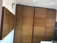 4 is Ikea wooden sliding wardrobe doors