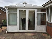 White Conservatory 12ft by 10ft to fit onto any building £995 Ono