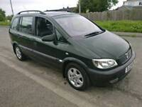 2002 VAUXHALL ZAFIRA ELEGANCE 7 SEATER FULL HEATED LEATHER