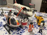 Playmobil City Action Coastguard Helicopter - 5542 - Very Good Condition