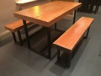 6-8 Seater Solid Wood Dining Table for Bar, Cafe and Restaurant