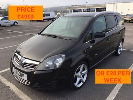 2011 VAUXHALL ZAFIRA SRI XP / LONG MOT / PX WELCOME / FINANCE AVAILABLE / WE DELIVER