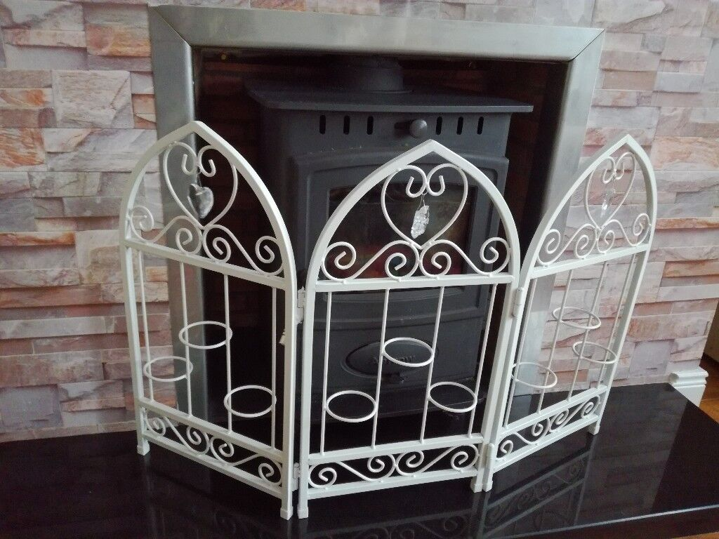 note screen white chic pinterest fireplace screens pin chateau