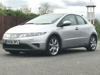 2006 (Jun 06) HONDA CIVIC 2.2 i-CDTi SPORT - 5 Door - DIESEL - Manual -SILVER *FSH*18 STAMPS*MOT*1 O
