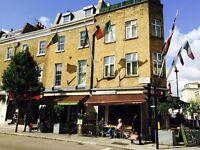 Day job for a deli in Victoria/Pimlico - waiting staff