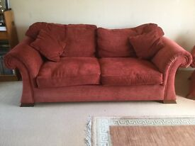 Large sofa and 2 arm chairs