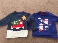 6-9 months baby boys Christmas jumper bundle Next