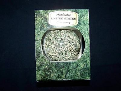 Christmas Ornament Made of Shredded Authentic United States Paper Money Currency