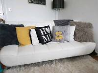 For sale!! White leather pvc sofa/bed