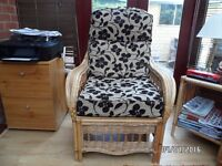 Cane Armchair and 2 Seat Sofa