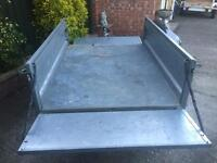 """5x4 Erde tipping trailer + 13"""" wheels cover/spare wheel"""
