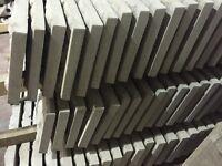 Concrete fence post, base panels