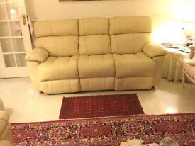 Leather sofa set, excellent condition