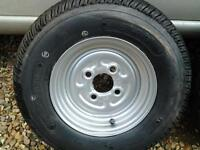 Brand new trailer wheel & 145/80/10 tyre never been used