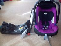 Britax Baby-Safe Plus SHR II Car Seat - Cool Berry
