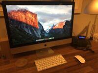 "iMac 27"" 2.7GHz Intel Core i5 with upgraded 12GB RAM"