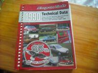 Snap-on car data book
