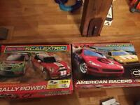 Micro Scalextric- 2 sets - 2 cars