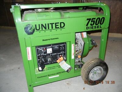 United Power 7500 Diesel Generator