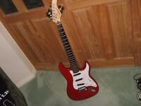 TANGLEWOOD STRAT COPY RED ELECTRIC GUITAR