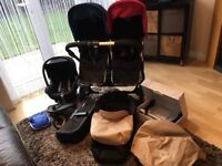 Bugaboo Donkey Double With Extras