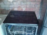 6 Ring Electrical Black Glass Hob