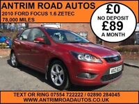 2010 FORD FOCUS 1.6 ZETEC ** SERVICE HISTORY ** FINANCE AVAILABLE WITH NO DEPOSIT **