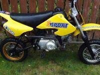 x-sport 50cc pit bike