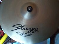 20 INCH HAND MADE RIDE CYMBAL BY STAGG with stand