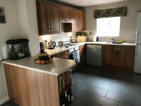 Kitchen and utility worktop, units with tap/sink, oven, hob and dishwasher for sale