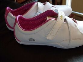 lacoste trainers size 7 new. great gift !