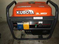 GENERATOR - KUBOTA AV2500 PETROL GENERATOR