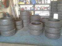 140 GOOD PART WORN TYRES INCLUDING SOME NEAR NEW MINT BRANDED TYRES