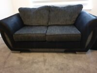 Modern grey/charcoal 2 seater sofa