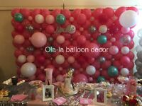 Balloon decor / chair covers