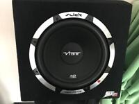 12 inch vibe slick sub with built in amp - 1200 watts
