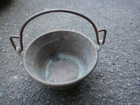 Vintage brass and copper berry jam pans x 4 as per pictures £30 each