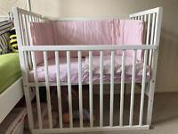 Baby cot - white