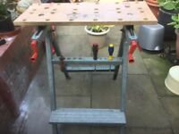 Wolfcraft 200 work bench used but still sturdy does fold up