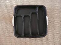 Matalan Black Speckle Plastic Cutlery Tray / Kitchen Drawer Organiser / Tidy / Storage Rack